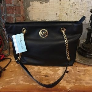 Michael Kors LG Chain Tote Leather